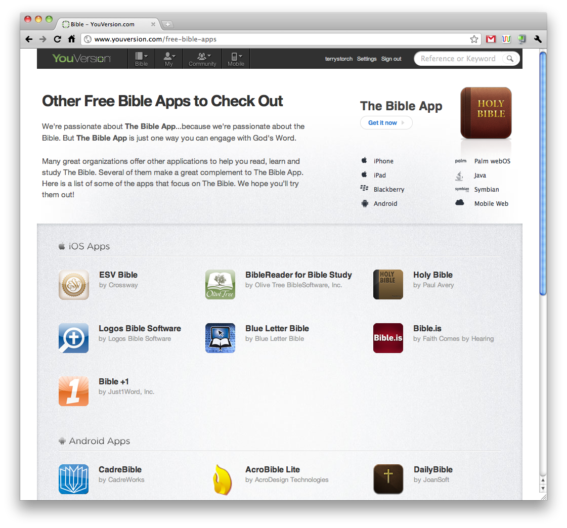 Free Bible Apps - YouVersion