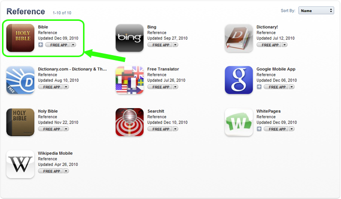 The Bible App Made iTunes' 2010 Top Ten! - YouVersion