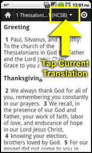 Tap Current Translation