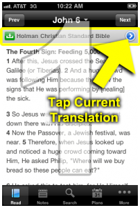 1. Tap current translation