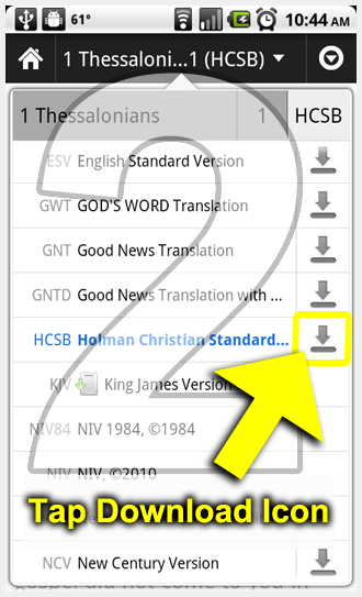 Instructions: How to Download Offline Bible Translations to Your