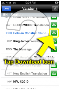 2. Tap download icon