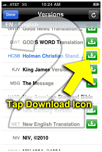 Instructions: How to Download Offline Bible Translations to Your iOS
