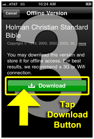 Instructions: How to Download Offline Bible Translations to