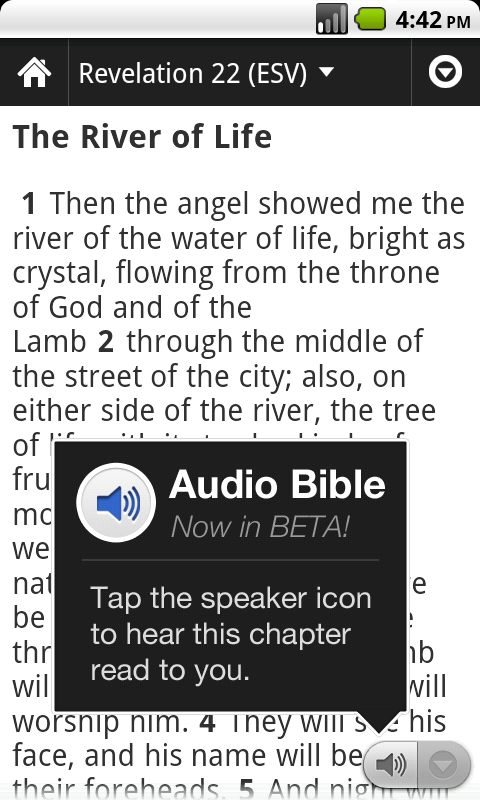 New Audio Bibles from YouVersion: ASV, WEB, KJV, and DRA