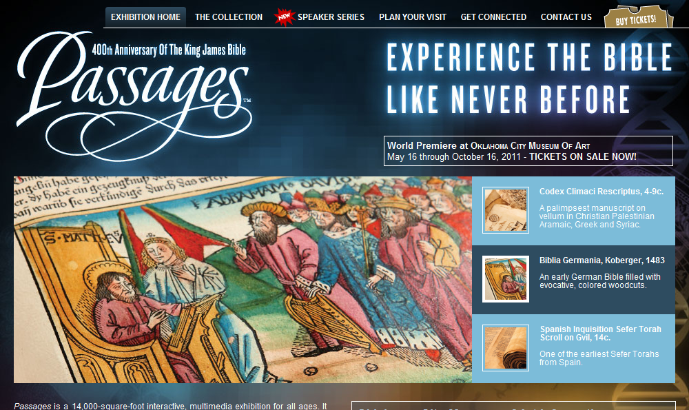Passages Exhibit Website