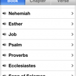 Book/Chapter/Verse Navigator in the Bible App™