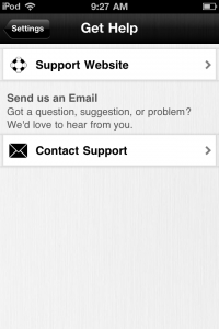 Access Technical Support from Directly Inside the Bible App™