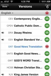 Offline Version Updates in the Bible App™