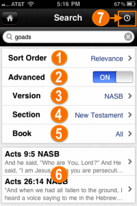 Advanced Search in the Bible App™ for iOS Version 3.5