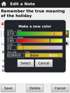 The Bible App™ for BlackBerry Custom Color