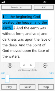 The Bible App™ for Windows Phone 2.1 Audio Bible