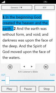 The Bible App™ for Windows Phone 2.1 Audio Bible