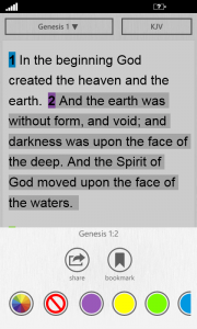The Bible App™ for Windows Phone 2.1 Color Options