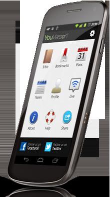 The Bible App™ Dashboard Launcher on a Google Nexus