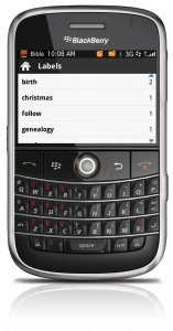 The Bible App™ for BlackBerry on BlackBerry Bold