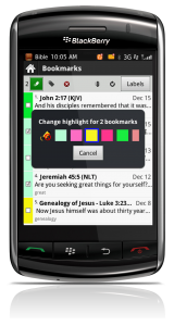 The Bible App™ for BlackBerry on BlackBerry Storm