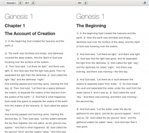 New Parallel Reading Mode at YouVersion.com