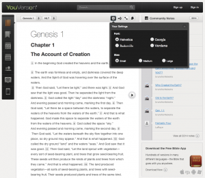 New Customizable Fonts at YouVersion.com