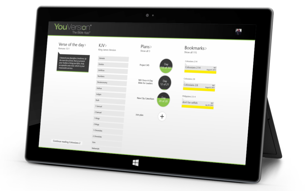 The All New Bible App for Windows 8