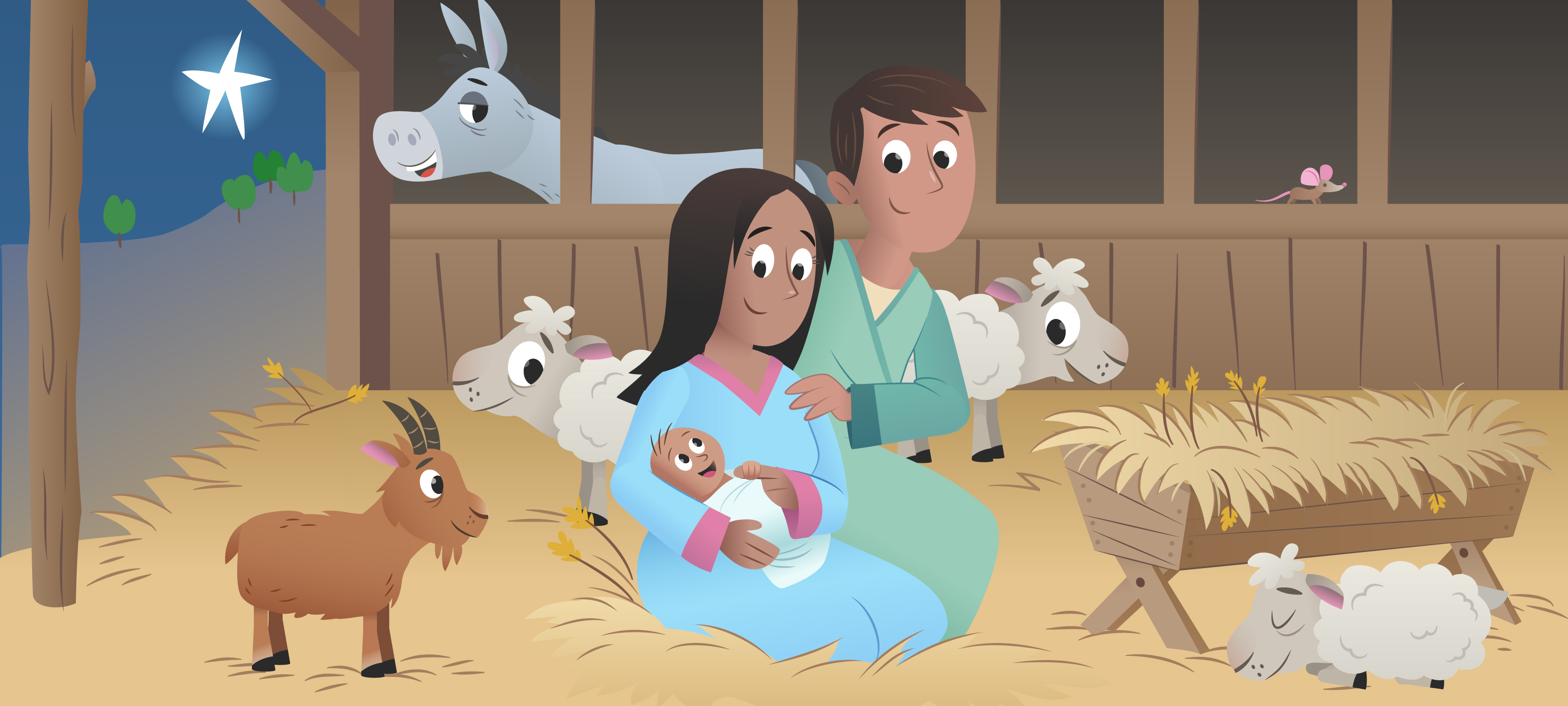 """The First Christmas Gift"" from the Bible App for Kids"