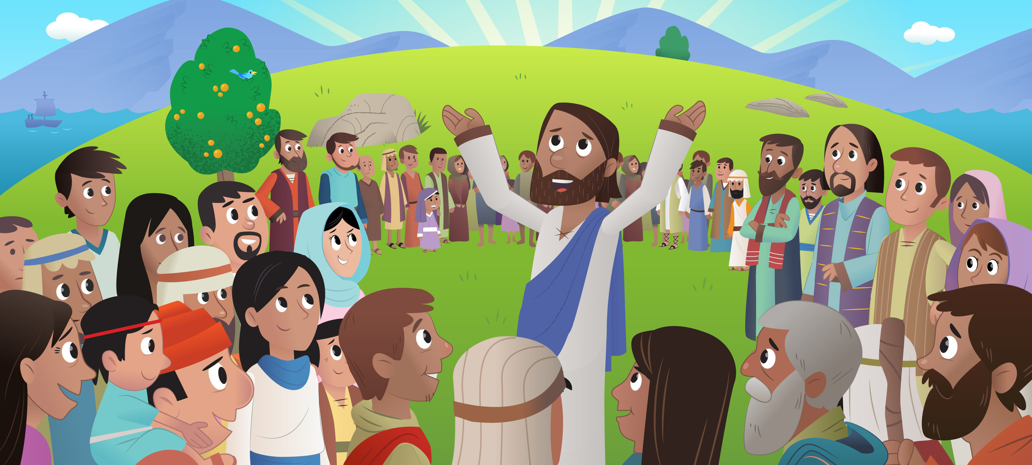 the sermon on the mount teachings on how people can follow jesus to get to heaven Describe the setting for the sermon on the mount where were the people who was present the people were on a mountainside listening to jesus jesus was teaching his disciples, followers, and a crowd but we can be light and show them jesus and the truth and the way to heaven.