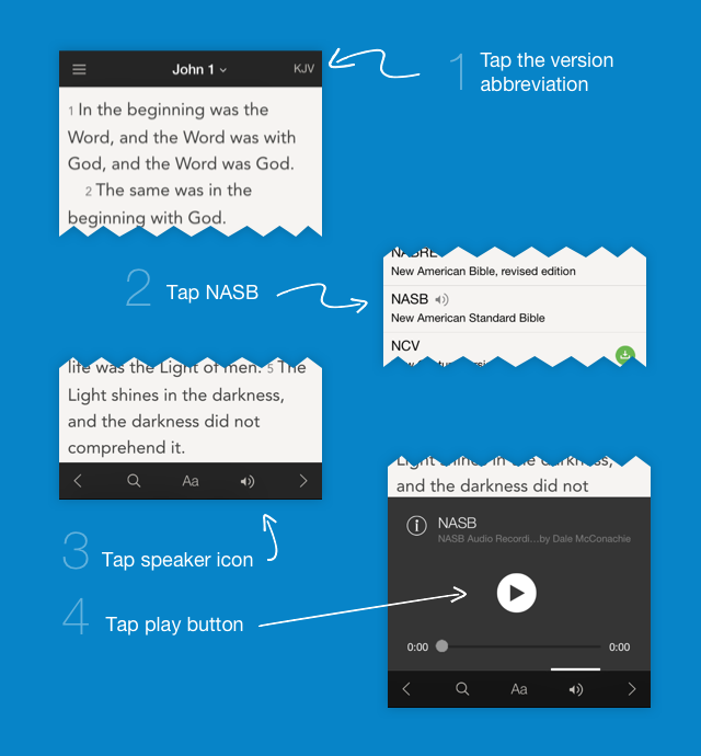 NASB now offers an audio version