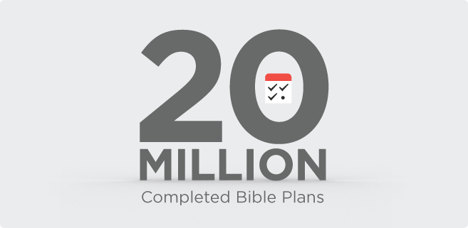 20 Million Completed Bible Plans