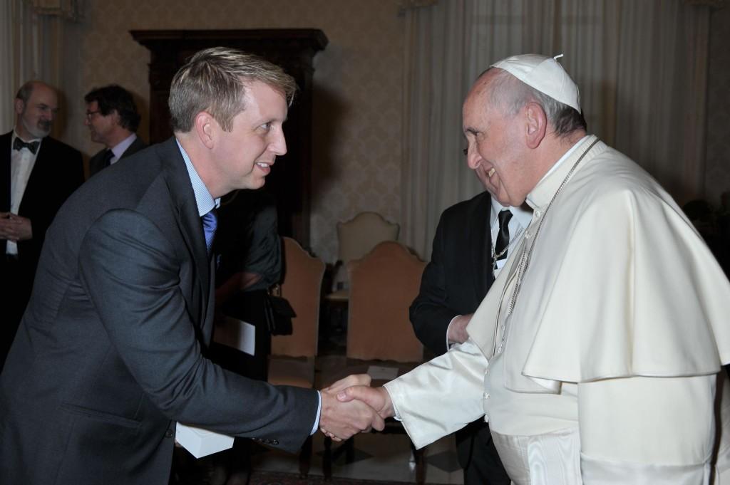 Papal Visit - Handshake