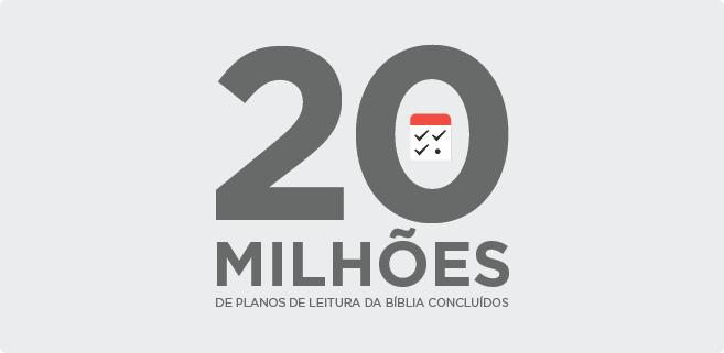 20 milhões de Planos completados