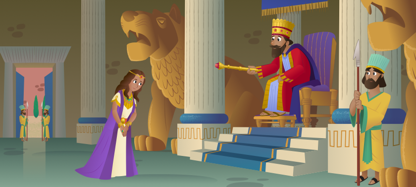 Esther visits the king