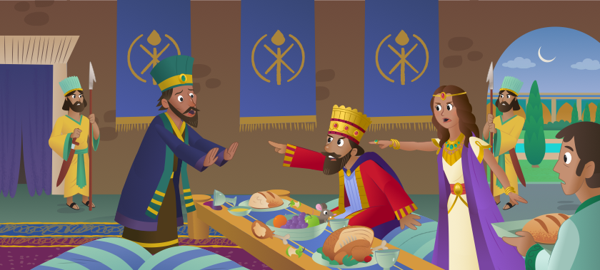 The king finds Haman out