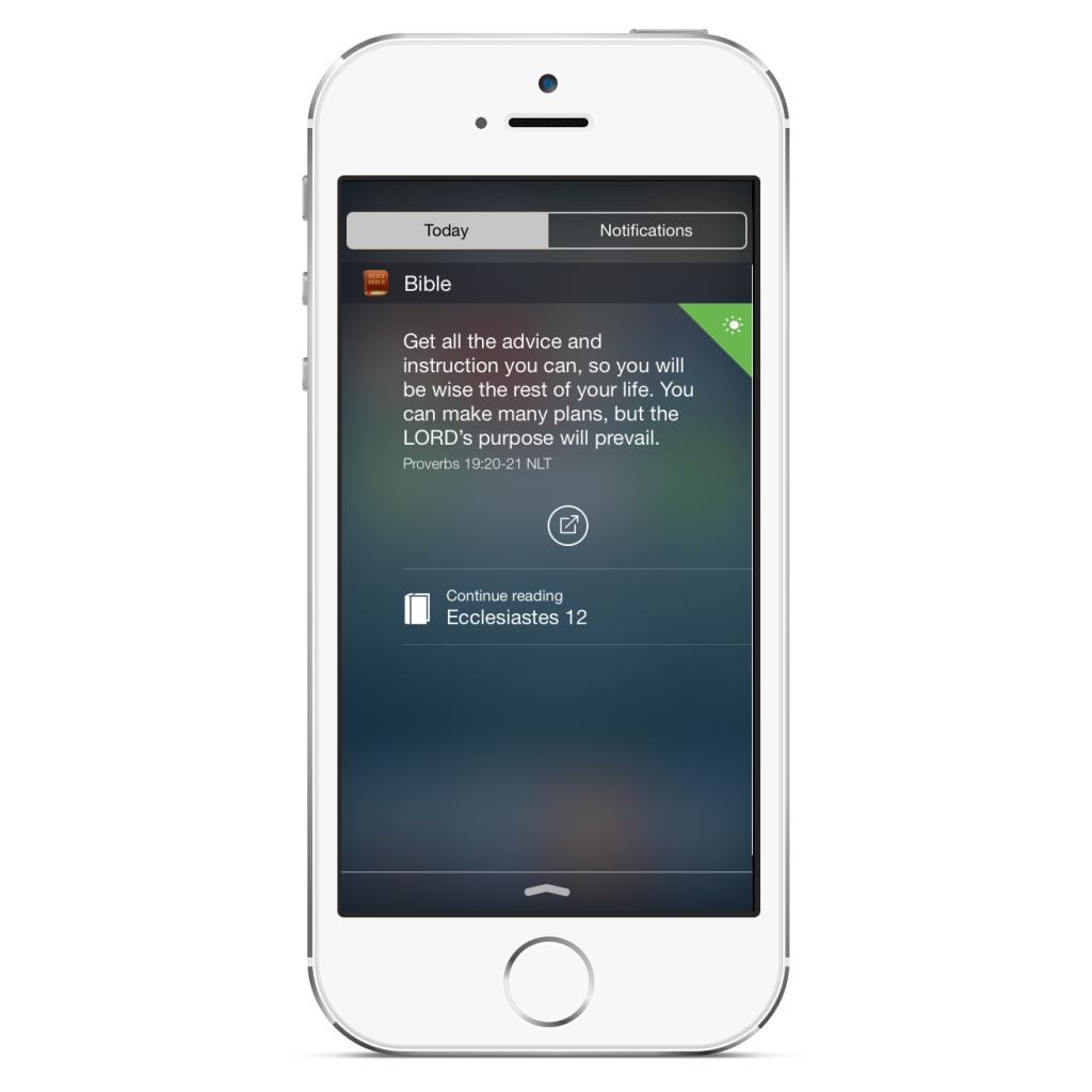 Bible Widget on iPhone