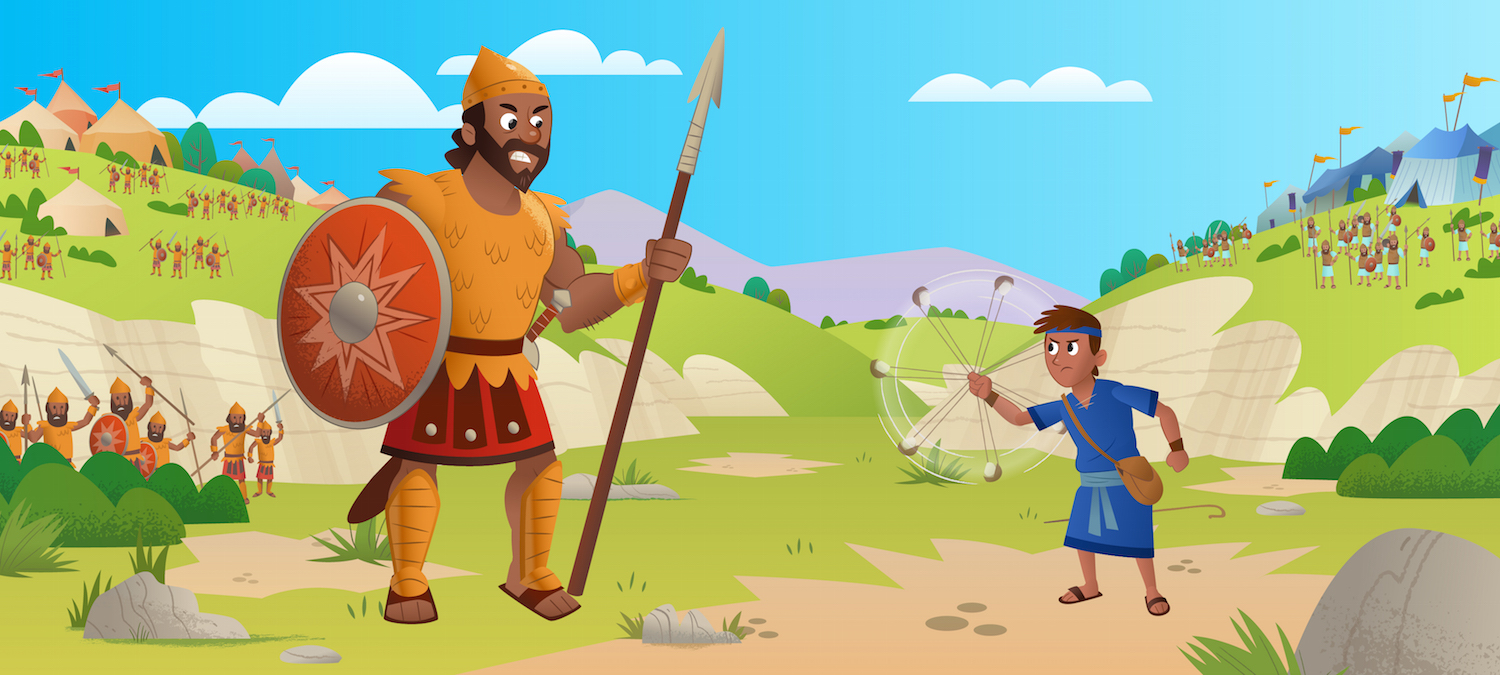 """Watch David Stand Up to Goliath: """"Stones, Slings, and ..."""