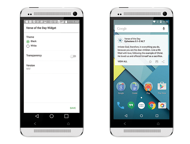 Bible App for Android Has Two Brand-New Widgets - YouVersion