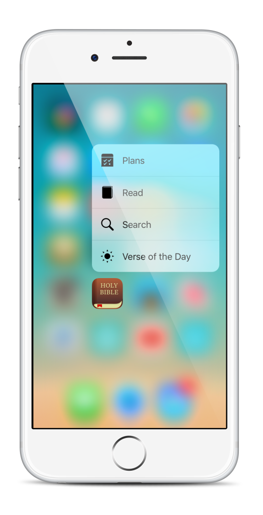 Bible App for iOS Now Features 3D Touch - YouVersion