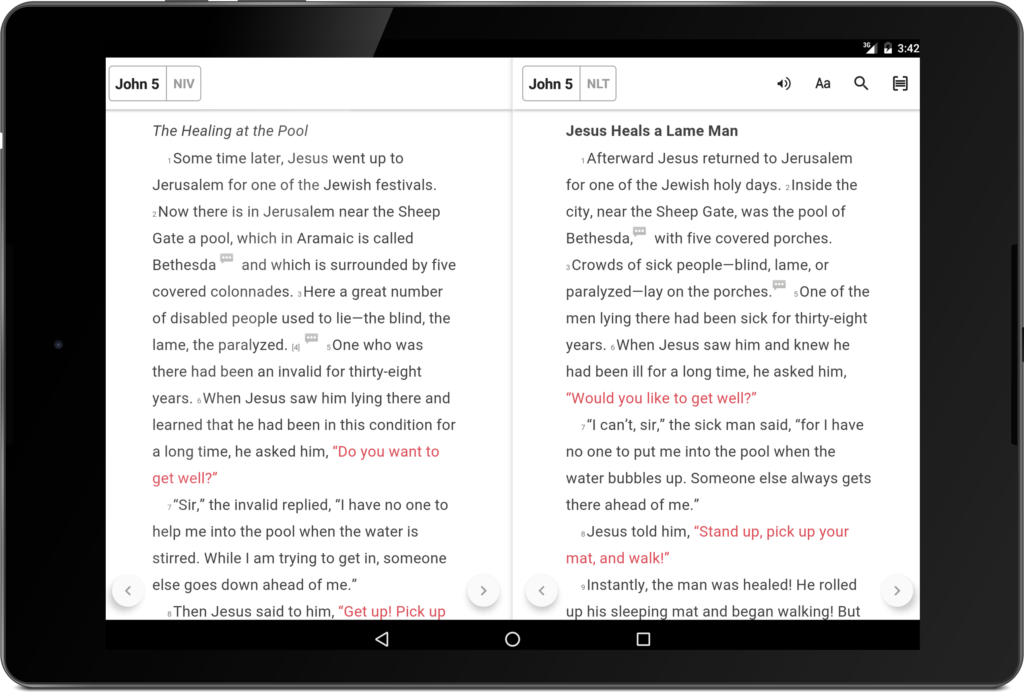 Bible App Android Update: Audio, Tablet, and Offline Features