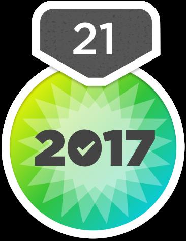 Das Abzeichen für die 21-Tage-Aufgabe