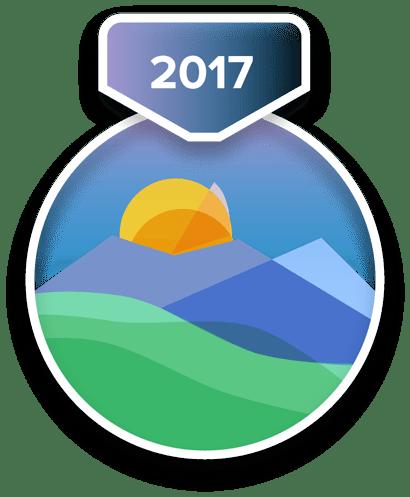 Das Abzeichen für die Herausforderung zur Jahreshälfte